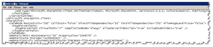 """SharePoint  """"Code blocks are not allowed in this file"""" 错误解决办法"""